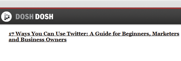 17 Ways You Can Use Twitter - DoshDosh